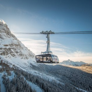 The gondola on the way to the top station of the Zugspitzbahn , © Bayerische Zugspitzbahn Bergbahnen AG | Max Prechtel
