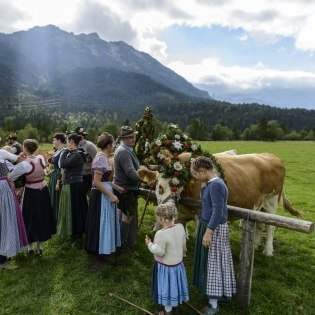 The farmers´week in Krün with marquee and large supporting programme, © Alpenwelt Karwendel | Zugspitz Region
