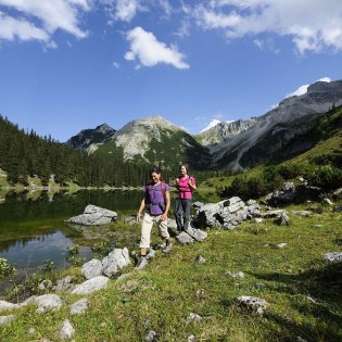 The Soiernberge around Lake Soiernsee is a hiking paradise for nature lovers. Far away from civilization, a Juwell of the Bavarian Alps is discovered here. Starting point from the village of Krün. , © Alpenwelt Karwendel | Wolfgang Ehn