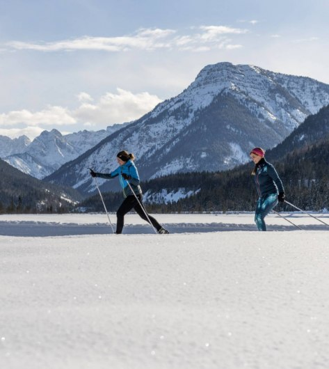 Cross-country trails with panorama in the Alpenwelt Karwendel: Kandaloipe near Wallgau, © Oberbayern.de | Foto: Peter v. Felbert