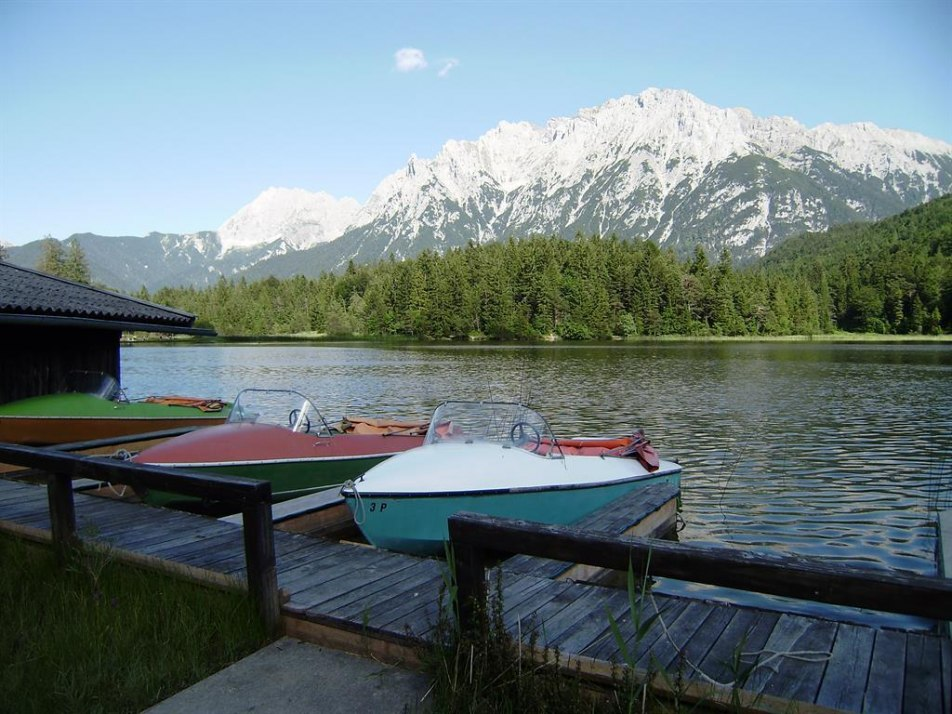 Unsere Boote am Lautersee